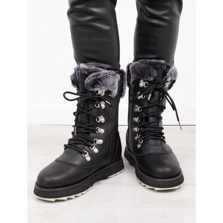 EMU Australia Comoro Waterproof Leather Hi-Leg Hiker Boot - Black