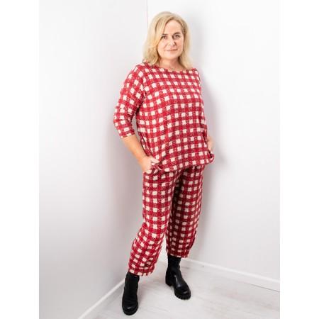 Mama B Bianco J Quadr Quadro Trouser - Red