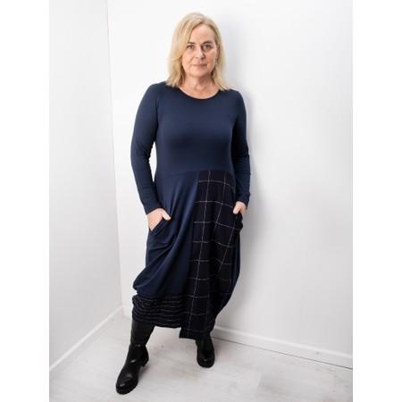 Mama B Panna Q Qsant Cotton Check Dress - Blue