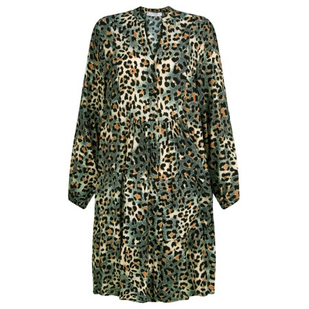 Amazing Woman Roz Button Through Dress - Green