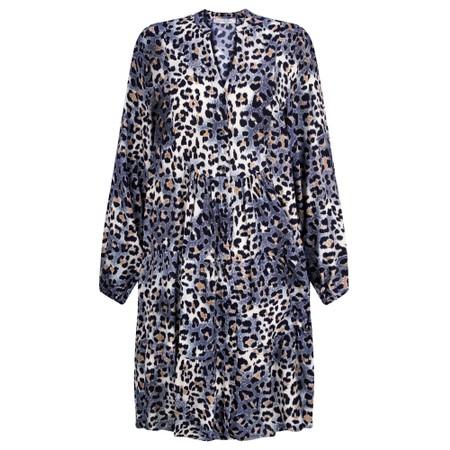Amazing Woman Roz Button Through Dress - Blue