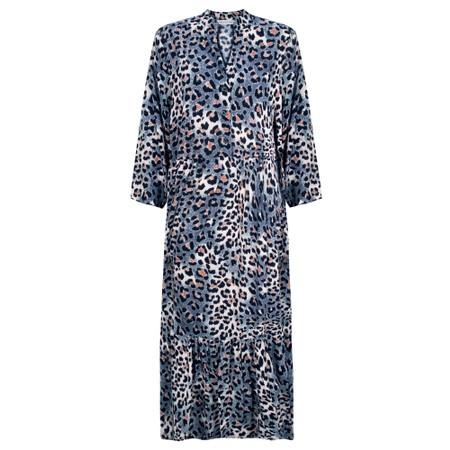 Amazing Woman Pennie Button Prairie Dress - Blue