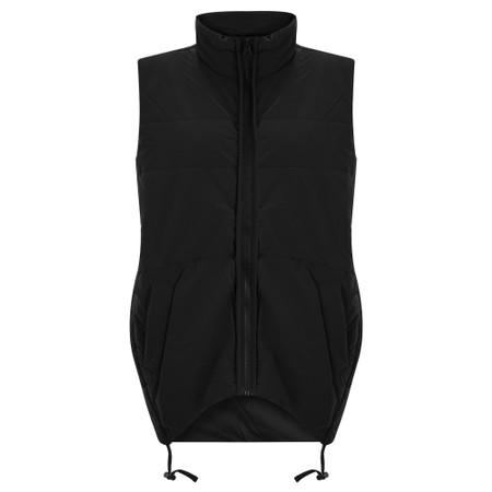 Tirelli Padded Rouch Vest - Black