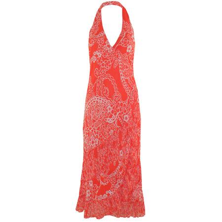 Sandwich Clothing Halterneck Net Dress - Orange