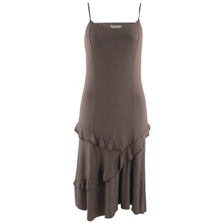 Sandwich Clothing Frill Hem Dress - Brown