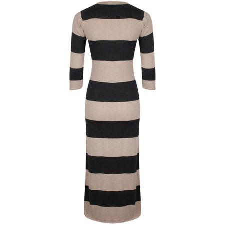 Gemini Woman Dulcie Stripe Dress - Grey