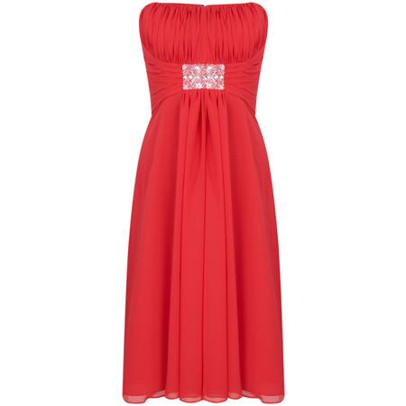 Kelsey Rose Chiffon T Length Dress - Red