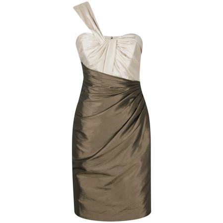 Kelsey Rose Short Taffeta Cocktail Dress - Brown