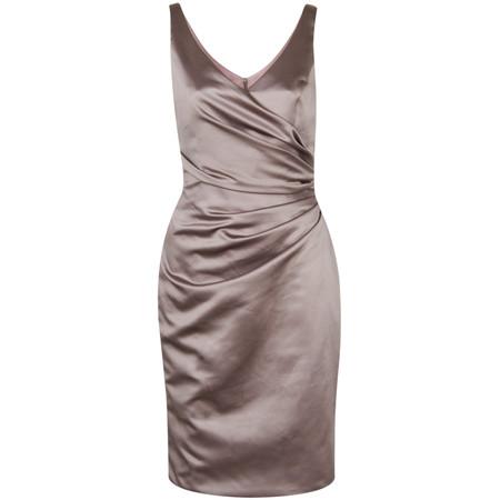 Kelsey Rose Satin Dress - Brown