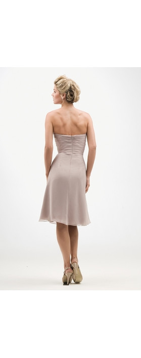 Kelsey Rose Chiffon T Length Dress Red