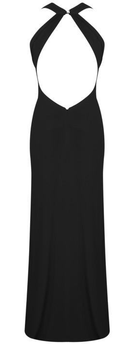 John Charles Halterneck Dress Black
