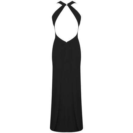 John Charles Halterneck Dress - Black