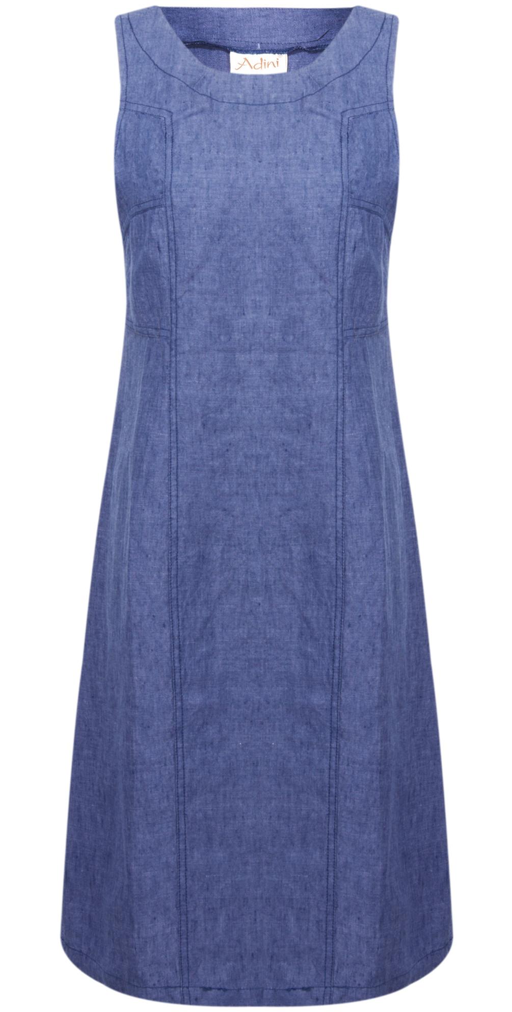 841df701ea2 Adini Structured Linen Dress in Denim