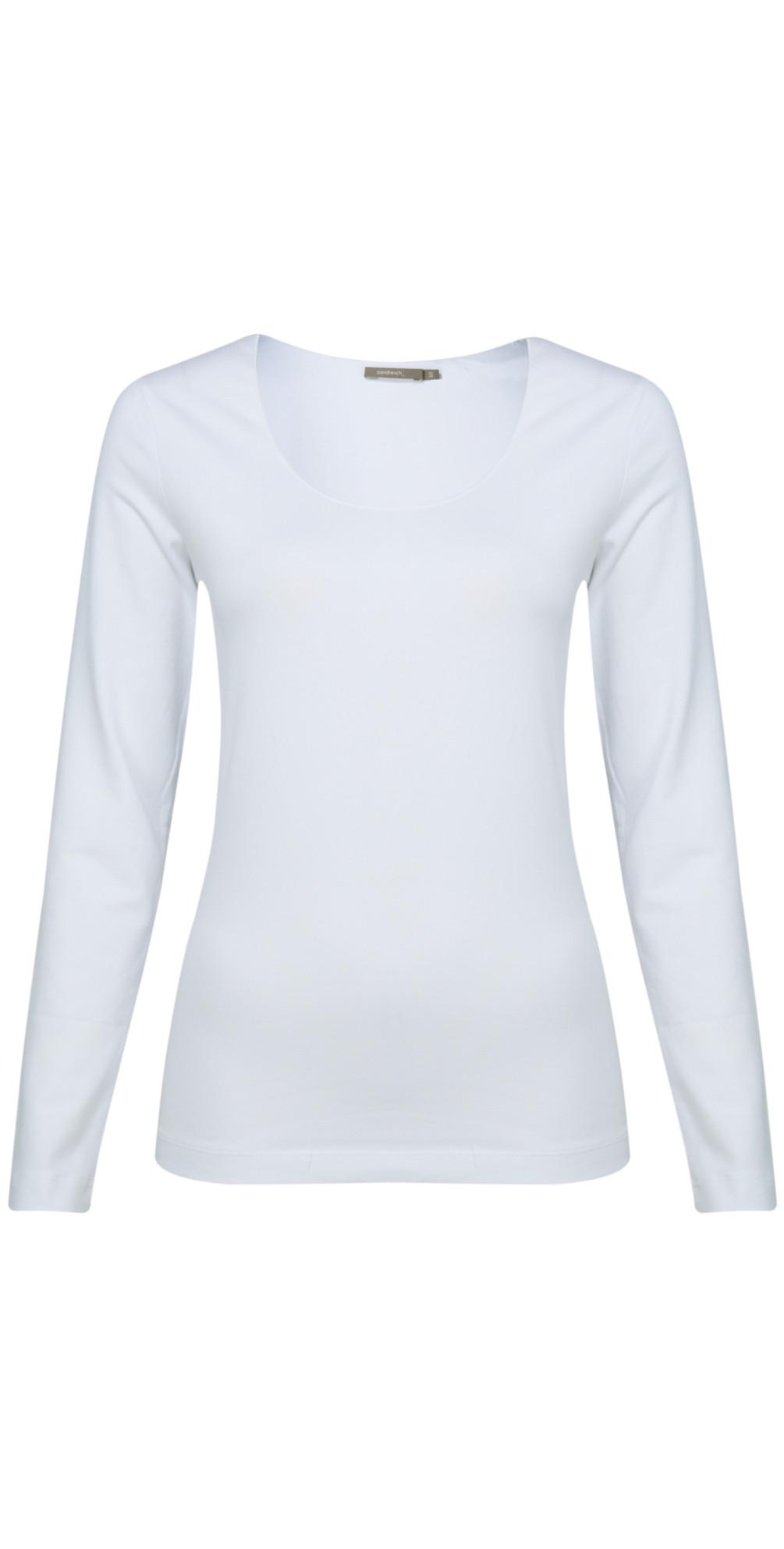 1a80a13ffa1a Sandwich Clothing Essentials Long Sleeve T-shirt in Optical White