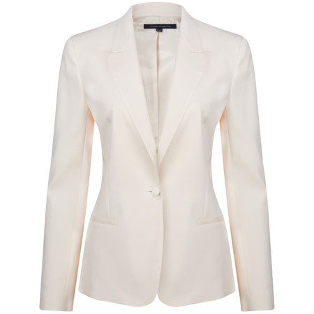 French Connection Stella Crepe Classic Jacket - White