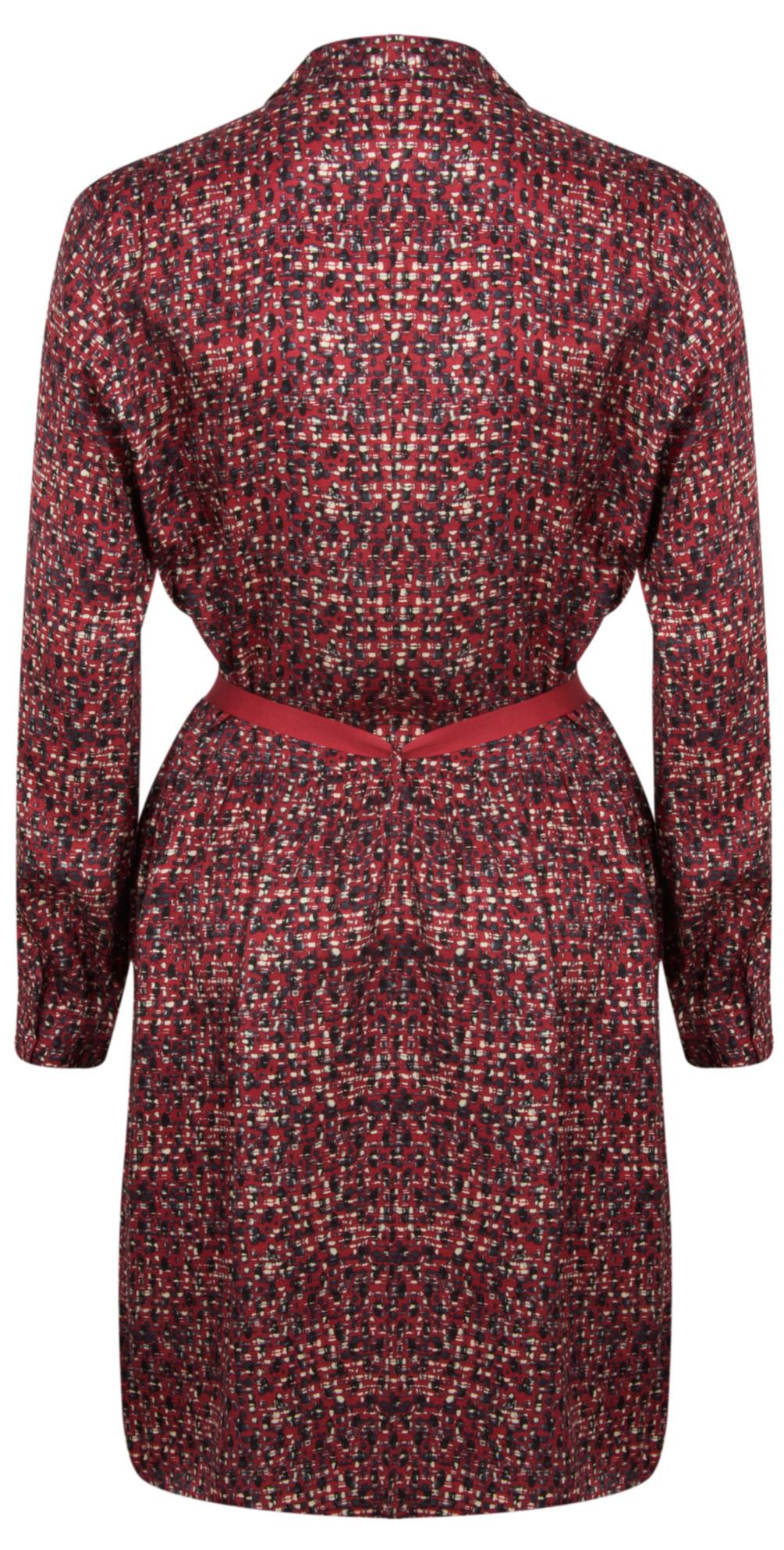 Long Sleeve Small Square Print Dress main image
