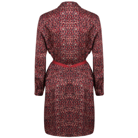 Sandwich Clothing Long Sleeve Small Square Print Dress - Red