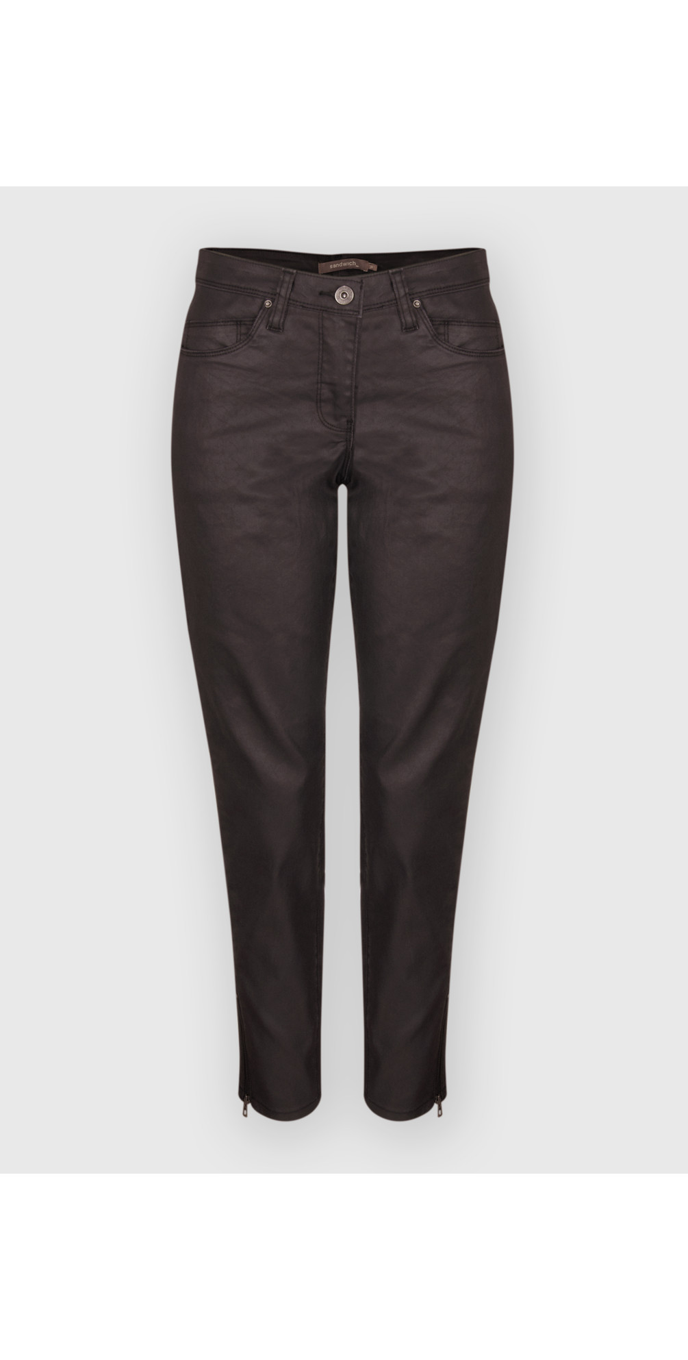 Coated Denim Skinny Pants main image