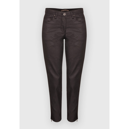 Sandwich Clothing Coated Denim Skinny Pants - Brown