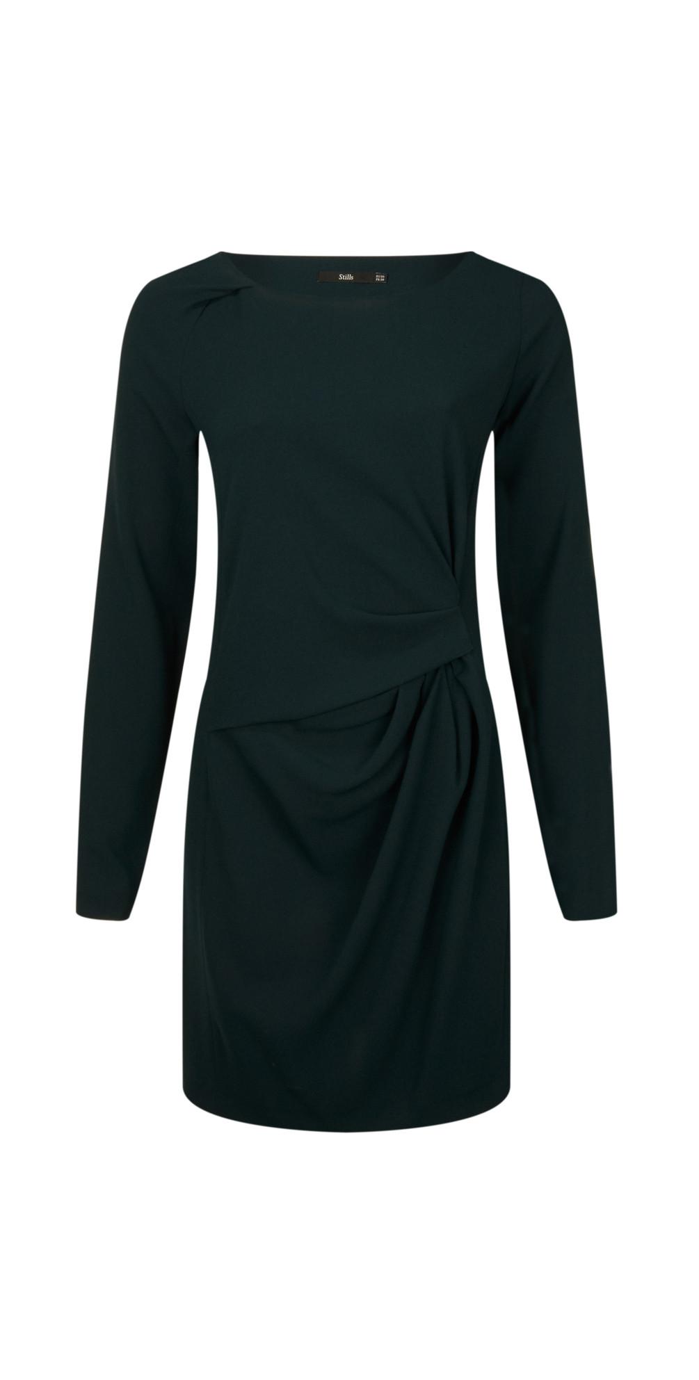 Long Sleeve Triacetate Dress main image
