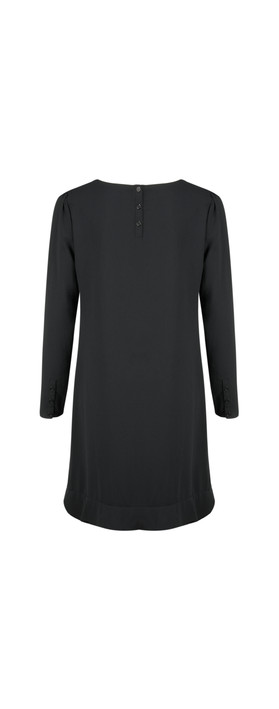 Fenn Wright Manson L/wt Crepe Dress Black