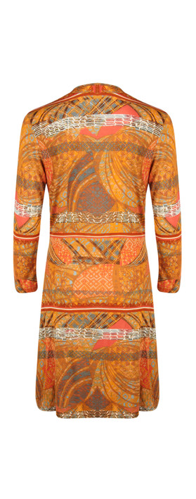 Sandwich Clothing Long Sleeve Ethnic Print Jersey Dress In