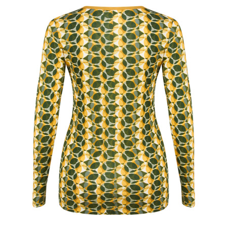Sandwich Clothing Long Sleeve Circle Print Jersey T-shirt - Green