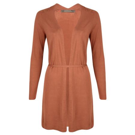Sandwich Clothing Long Sleeve Linen Long Cardigan - Brown