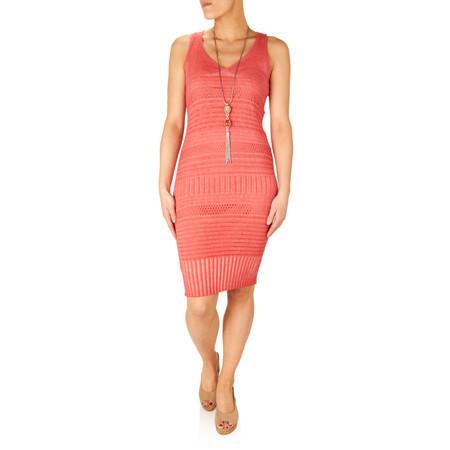 Lauren Vidal Mady Knitted Dress - Orange