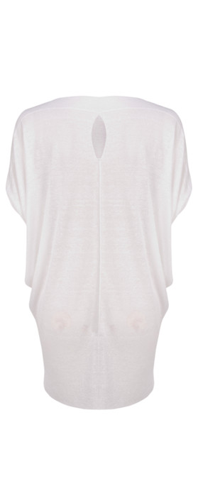 Sandwich Clothing Short Sleeve Cloudy Linen Tunic Optical White