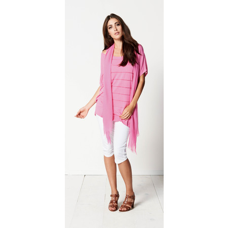 Sandwich Clothing Short Sleeve Extra Fine Knit Pullover - Pink