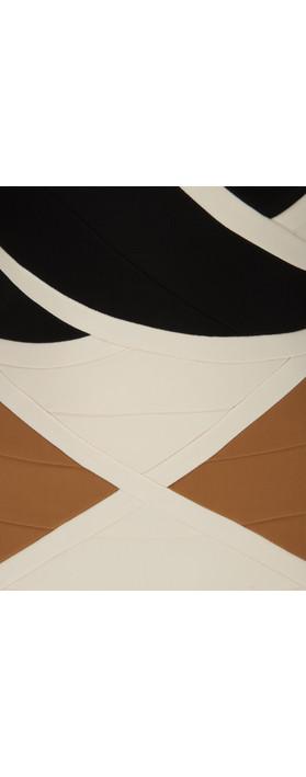 Bernshaw Gigi Geometric Panel Dress Camel