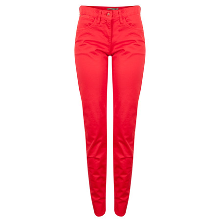 Sandwich Clothing Satin Stretch Skinny Pant - Red