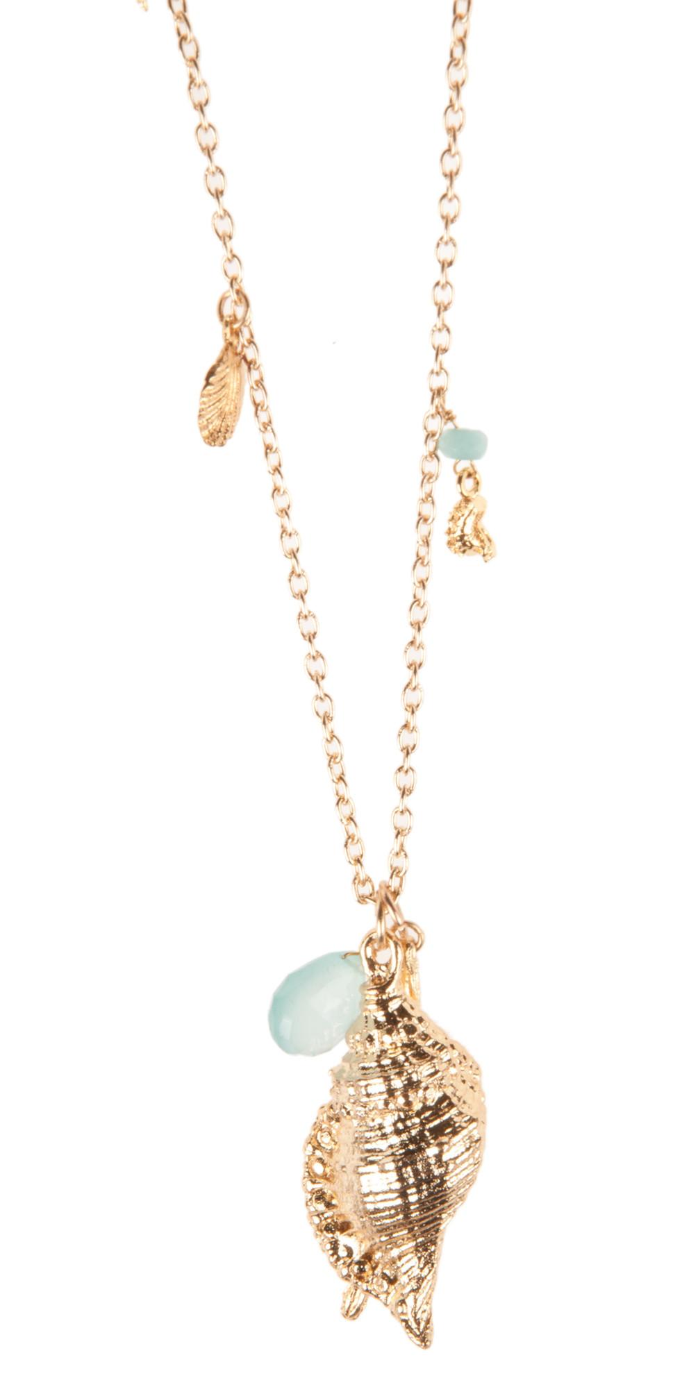 Sea Charm Necklace Wih Aqua Chalcedony main image
