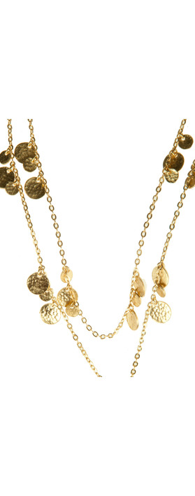 Ashiana Jewellery Mini Disc Necklace Gold