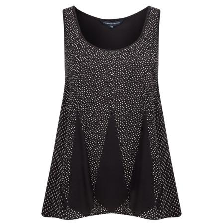 French Connection Harlequin Summer Vest Top - Black