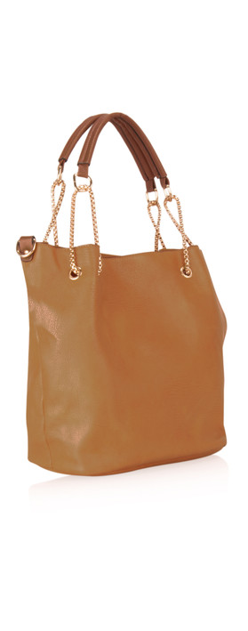 Kris-Ana Coco Tote Bag with Mini Bag and Phone Purse Tan