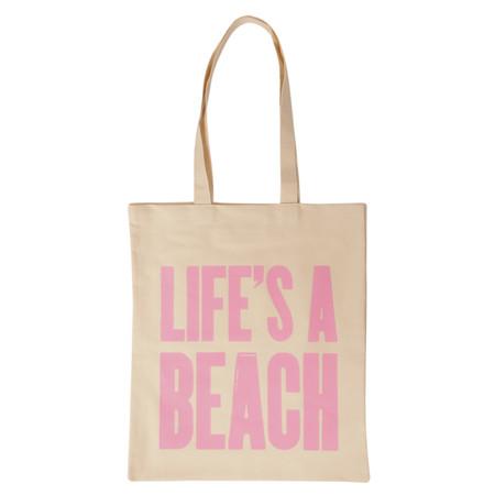 Alphabet Bags Lifes A Beach Bag - Beige