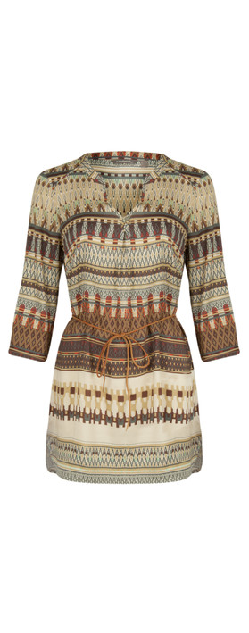 Sandwich Clothing Tapestry Print Tunic Slate
