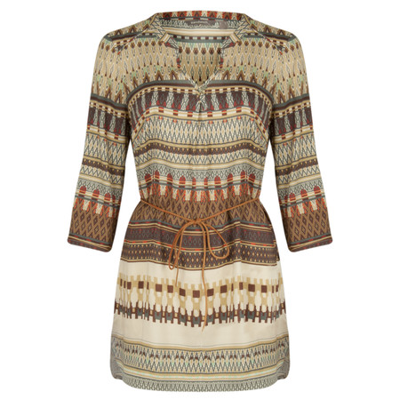 Sandwich Clothing Tapestry Print Tunic - Grey
