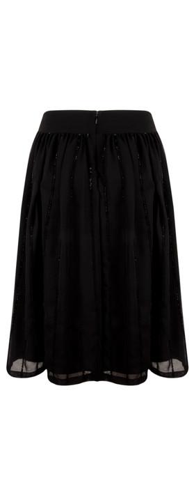 Great Plains Night Lights Sequin Full Skirt Black