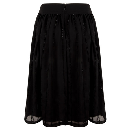 Great Plains Night Lights Sequin Full Skirt - Black