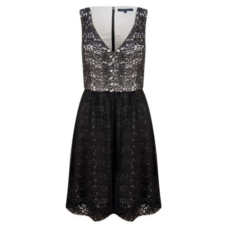French Connection Glazed Lace Sleeveless Dress - Black