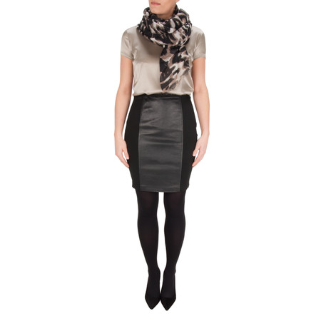 Marella Norma Leather Skirt - Black