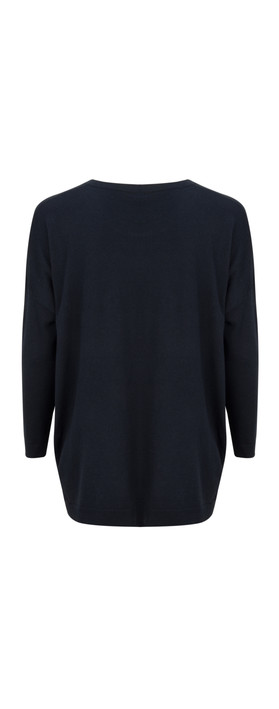 Great Plains Percy Knit Slouch Top The Navy