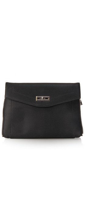 French Connection Hillary Clutch Bag Black