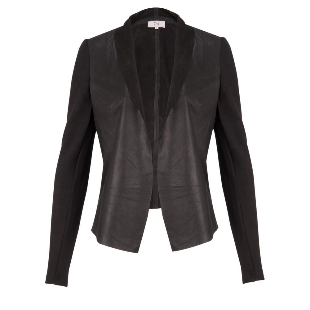 Noa Noa Long Sleeve Atelier Leather Jacket Black