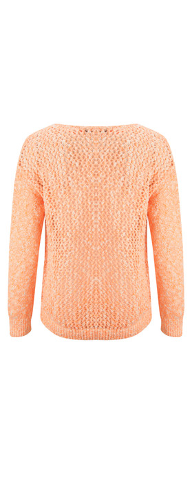 Sandwich Clothing Fluo Cotton Flame Pullover Neon Coral