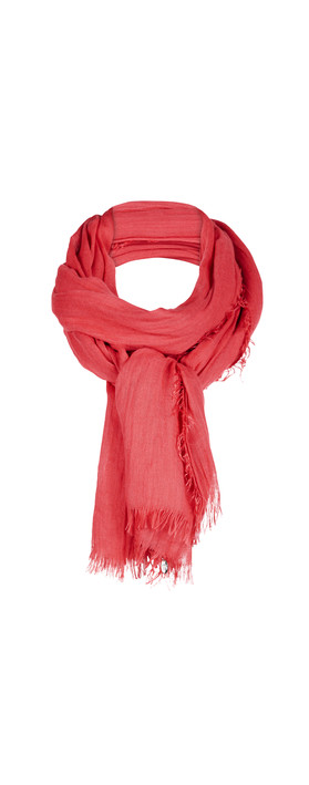 Sandwich Clothing Solid Viscose Scarf Bright Coral