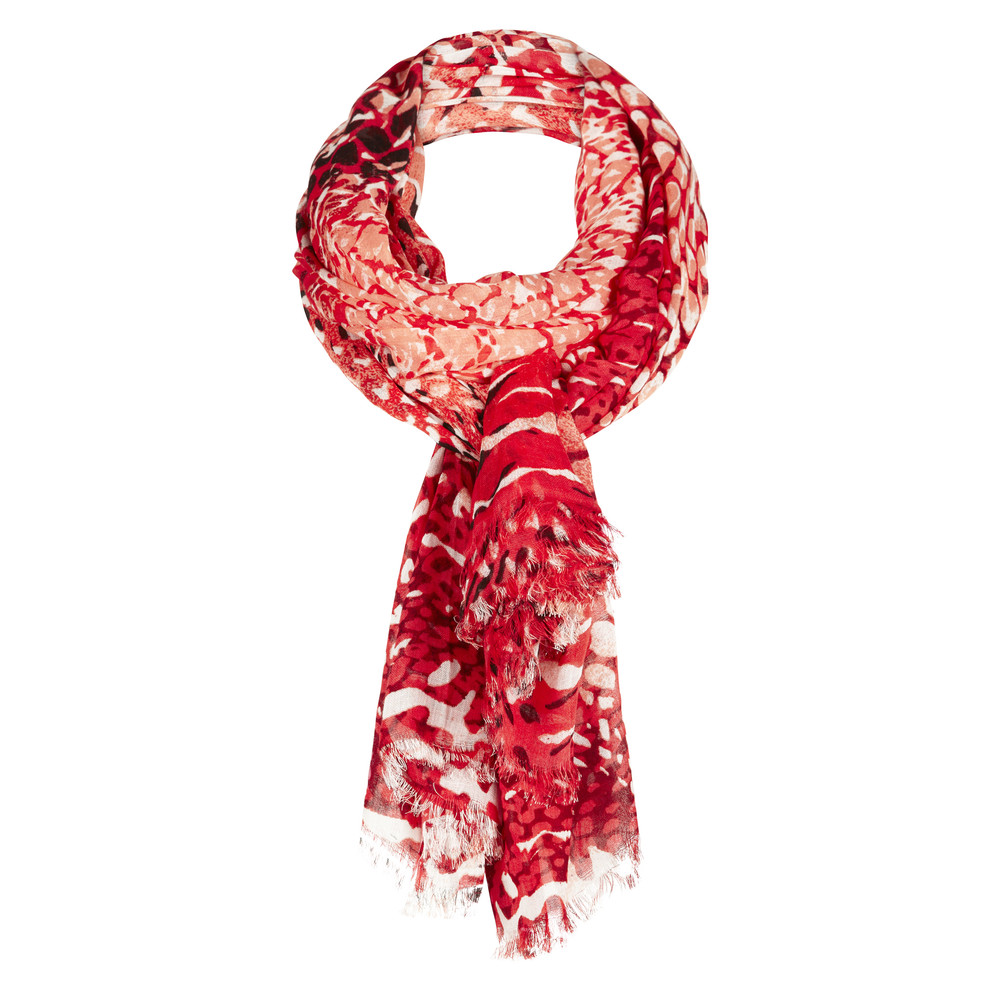 Sandwich Clothing Snake Print Scarf Bright Coral